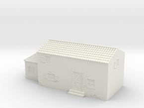 Italian style house 1/72 in White Natural Versatile Plastic