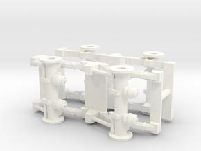1/50th Spring leaf Tandem Axle Semi Truck Suspensi in White Processed Versatile Plastic