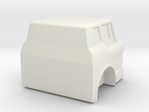 Ford C Cab - 1:43scale in White Natural Versatile Plastic