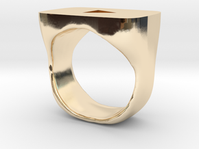 YouTube Ring in 14k Gold Plated Brass