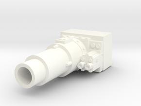 28mm short gun for LRBT tank in White Processed Versatile Plastic