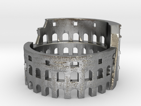 Colosseum Ring. Rome in your heart in Natural Silver: 7 / 54