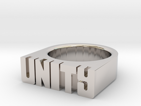 15.0mm Replica Rick James 'Unity' Ring in Platinum