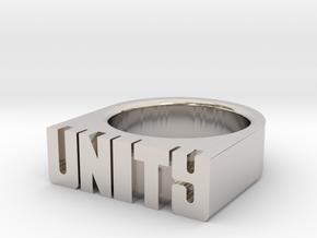 19.8mm Replica Rick James 'Unity' Ring in Platinum