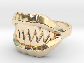 Ring of the Mimic in 14k Gold Plated Brass: 6 / 51.5