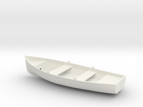 1/24 10ft Lifeboat - Dinghy v1 in White Natural Versatile Plastic