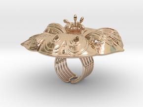 RING FLOWER in 14k Rose Gold Plated Brass