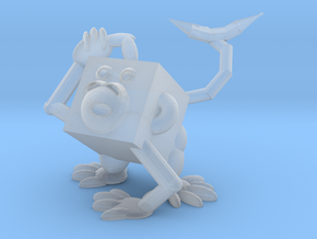 Monkey #3DblockZoo in Smooth Fine Detail Plastic