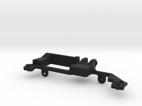 AR60 Servo mount Rear in Black Natural Versatile Plastic
