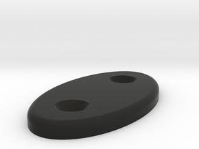 Miata visor blank in Black Natural Versatile Plastic