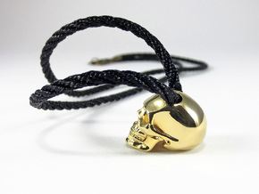 Realistic Human Skull (20mm H) - Pendant in 18K Gold Plated