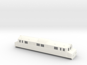 Swedish SJ electric locomotive type Mg - H0-scale in White Processed Versatile Plastic