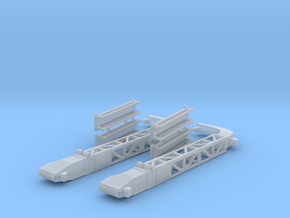 Britannic Gantry Davits - Scale 1:200 in Smoothest Fine Detail Plastic