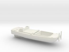 1/87 Scale Army Bridge Erection Boat 1952 in White Natural Versatile Plastic