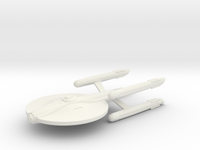 USS Bonaventure X Small / 9cm - 3.54in in White Natural Versatile Plastic