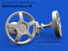 2002 Ford Focus RS Cufflinks in Natural Bronze