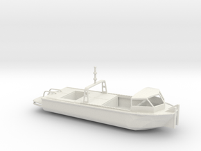 1/87 Scale Army Bridge Erection Boat 1984 With Cab in White Natural Versatile Plastic