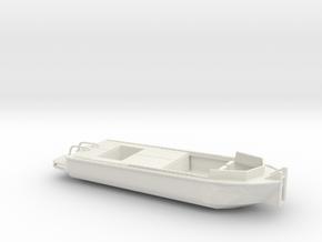 1/87 Scale Army Bridge Erection Boat 1984 in White Natural Versatile Plastic