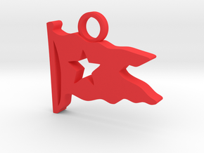 Titanic Pendant: White Star Pennant in Red Processed Versatile Plastic