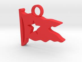 Titanic Pendant: White Star Pennant in Red Processed Versatile Plastic