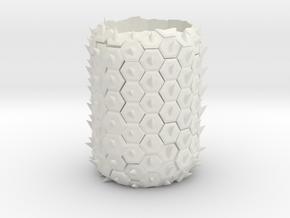 Pineapple Planter in White Natural Versatile Plastic