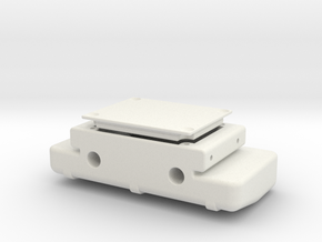 CFX-W rear cross member fuel tank - Axial bumber f in White Natural Versatile Plastic