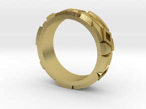 Contemporary Ring in Natural Brass