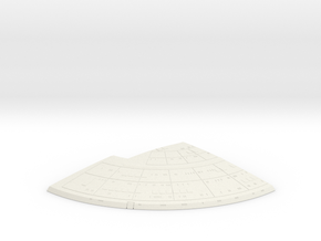 1/1400 Ambassador proposal Right Upper Saucer (Bac in White Natural Versatile Plastic
