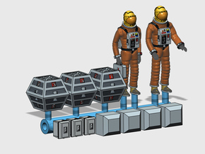 SPACE 2999 1/144 ASTRONAUT DIORAMA SET in Smoothest Fine Detail Plastic