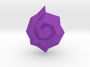 Jagged Jewel in Purple Processed Versatile Plastic