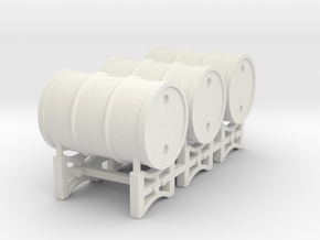 Drum rack with 3 drums - 1:50 in White Natural Versatile Plastic