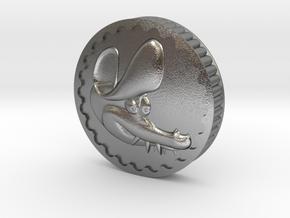 Crocodile Dubloon (B) in Natural Silver