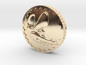 Crocodile Dubloon (B) in 14k Gold Plated Brass