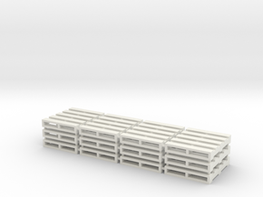 Set of 12 - 1/64 Scale Pallets in White Natural Versatile Plastic