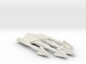 3788 Scale Ymatrian Battleaxe Battlecruiser MGL in White Natural Versatile Plastic