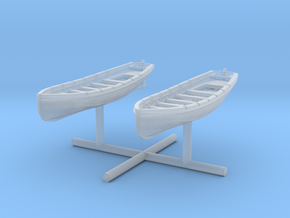 1/400 IJN 9m Cutter Set x2 in Smooth Fine Detail Plastic