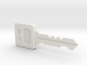 Resident Evil Graveyard Key in White Natural Versatile Plastic