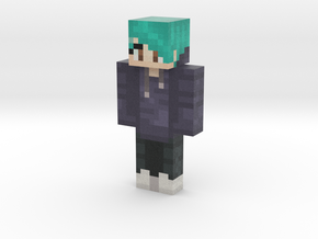 Wyntr Mixer Teal Steve Model | Minecraft toy in Natural Full Color Sandstone