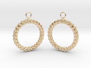 RW Earrings in 14K Yellow Gold