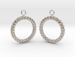 RW Earrings in Platinum