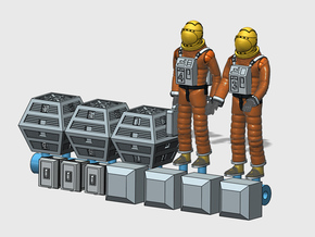 SPACE 2999 1/93 ASTRONAUT SET 1 in Smooth Fine Detail Plastic