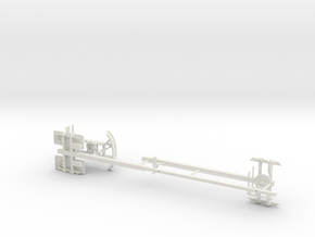 1/64th Expanding Steerable Pipe Trailer in White Natural Versatile Plastic