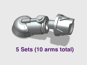 5x New Chaos - Adjustable Terminator Arms in Smooth Fine Detail Plastic