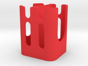 WCU4/ Preston Dual Hand Unit Battery Holder V1 in Red Processed Versatile Plastic