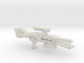 Universe Rail Laser Rifle (3mm, 5mm) in White Natural Versatile Plastic: Medium