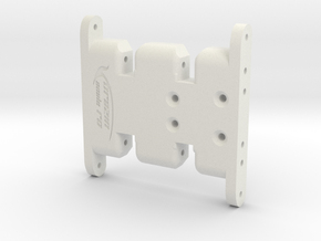 Axial SCX10 Flat Bottom Skid in White Natural Versatile Plastic