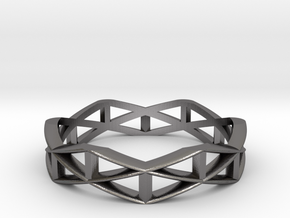 Truss Ring  in Polished Nickel Steel: 10 / 61.5