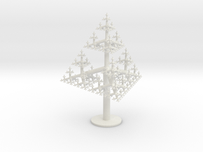Tetrahedral Tree in White Natural Versatile Plastic