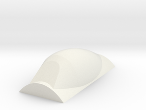P47 D Canopy, Solid, Bubble type in White Natural Versatile Plastic