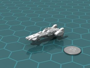 Union Heavy Cruiser in White Natural Versatile Plastic